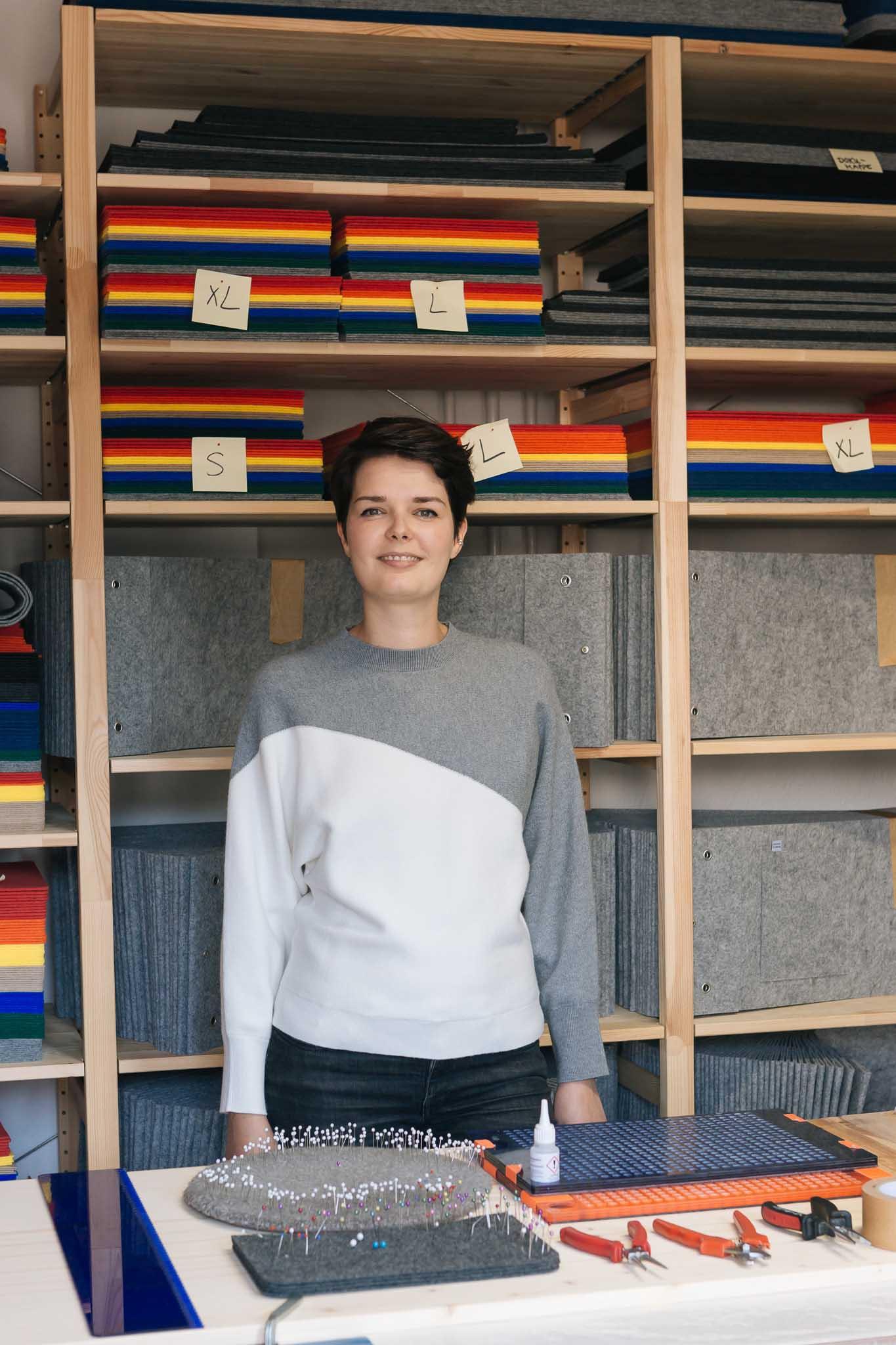 RÅVARE-Chefin Jenny Ullmann hat ihre persönliche Vorliebe für Struktur erfolgreich auf die Produktionsprozesse übertragen.